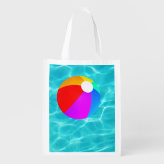 Summer Pool Reusable Grocery Bags