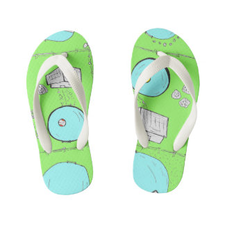 Summer pools kid's flip flops