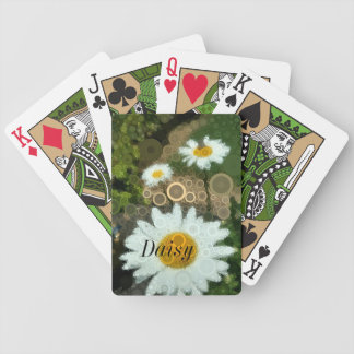 Summer Pop Art Concentric Circles Daisy Bicycle Playing Cards