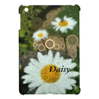 Summer Pop Art Concentric Circles Daisy Home iPad Mini Cover
