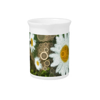 Summer Pop Art Concentric Circles Daisy Home Pitcher