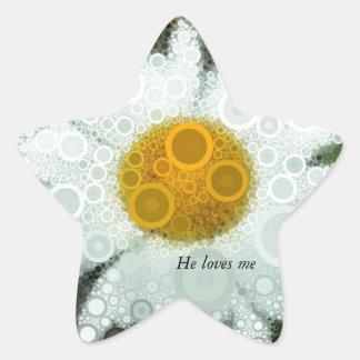 Summer Pop Art Concentric Circles Daisy Star Sticker
