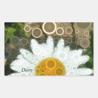Summer Pop Art Concentric Circles Daisy Sticker