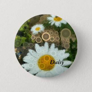Summer Pop Art Daisy Bachelorette 2 Inch Round Button