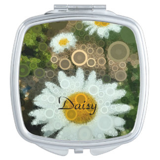 Summer Pop Art Daisy Compact Mirror