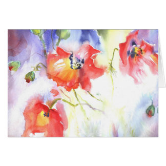 summer poppies dream card