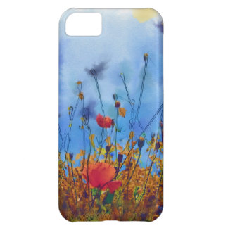 Summer Poppy Field - Paint Case For iPhone 5C