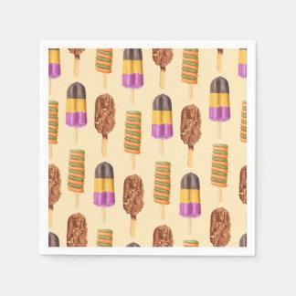 Summer Popsicle Treat Dessert Pattern Paper Napkins