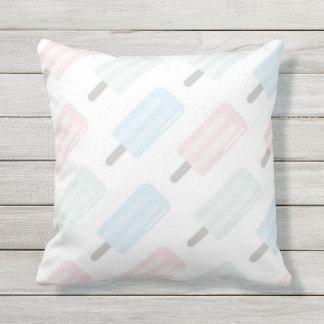 Summer Popsicles Throw Pillow