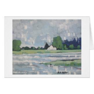 Summer rain on the River Ribble Lancashire Card