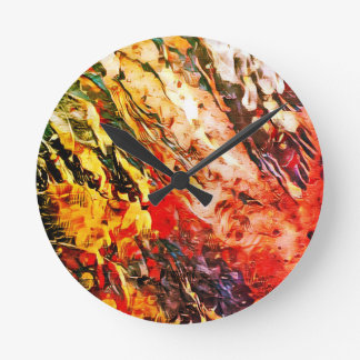 """Summer Rains"" Abstract Art Clock"