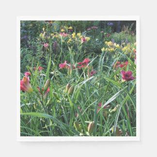 Summer Reblooming Daylily Garden Napkin