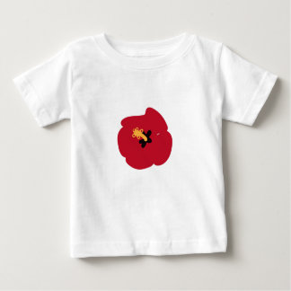 Summer Red Hibiscus Baby T-Shirt
