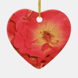 Summer Red Roses Ceramic Ornament