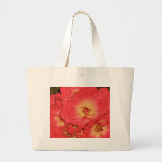 Summer Red Roses Large Tote Bag