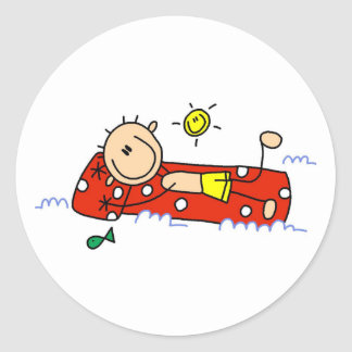 Summer Relaxation  Classic Round Sticker