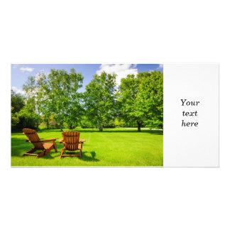 Summer relaxing photo card