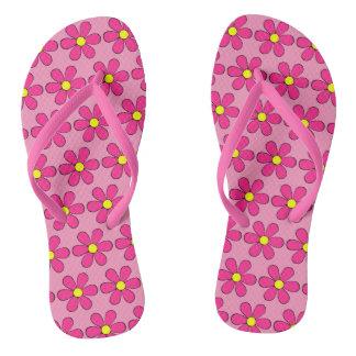 Summer Retro Flower Daisy Flip Flops Sandals Gift