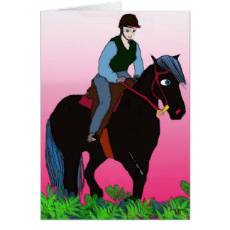 Summer Ride-Whimsical Horse Collection Card