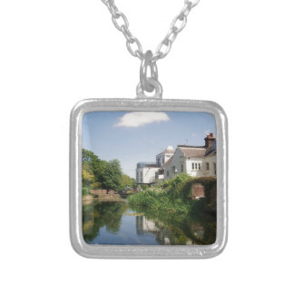 Summer River and Clouds Scenery Silver Plated Necklace
