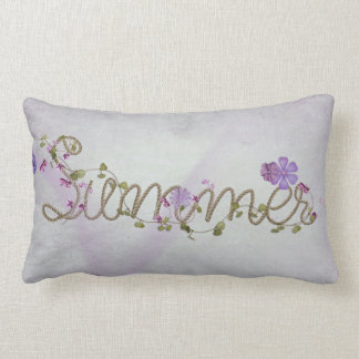 summer rope and flowers lumbar pillow