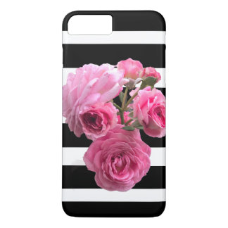 Summer Rose Bouquet on Black and White Horizontal iPhone 8 Plus/7 Plus Case