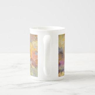 Summer Rose Watercolor Tea Cup