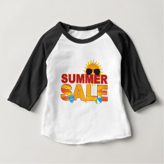 Summer Sale Beach Theme Banner Illustration Baby T-Shirt