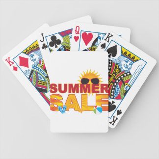 Summer Sale Beach Theme Banner Illustration Bicycle Playing Cards