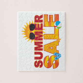 Summer Sale Beach Theme Banner Illustration Jigsaw Puzzle