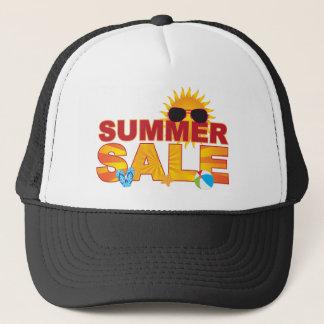 Summer Sale Beach Theme Banner Illustration Trucker Hat