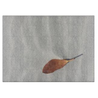 Summer sand and leaf cutting board