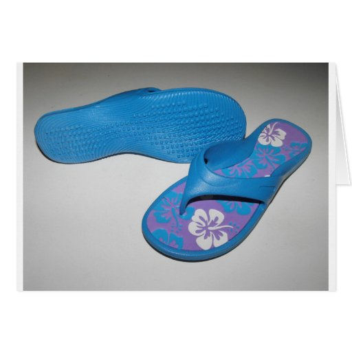 Summer Sandals Greeting Cards