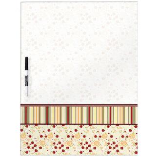 Summer Scattered Strawberry Swirl Pattern - Border Dry-Erase Whiteboard
