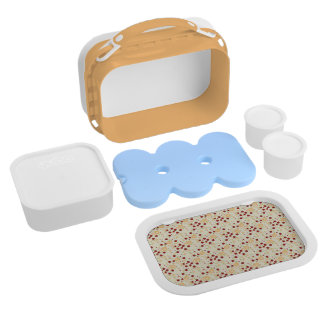 Summer Scattered Strawberry Swirl Pattern Lunch Boxes