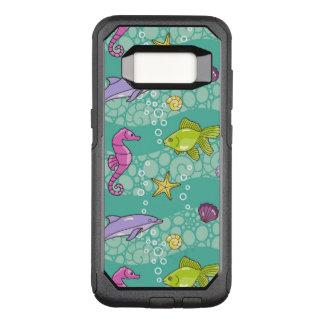 Summer Sea Pattern OtterBox Commuter Samsung Galaxy S8 Case