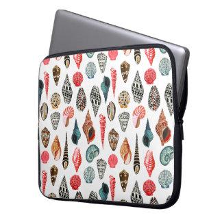 Summer Seashell Shell Nautical / Andrea Lauren Laptop Computer Sleeve