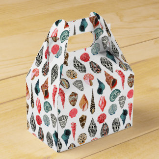 Summer Seashell Shell Nautical / Andrea Lauren Party Favor Box