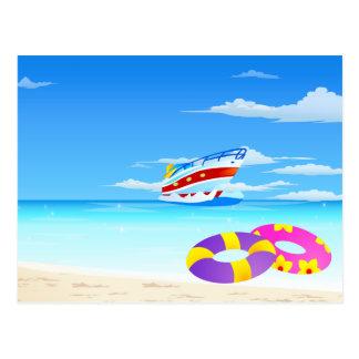 Summer Seaside Postcard