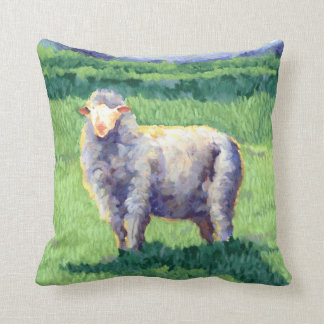 Summer Sheep Throw Pillow