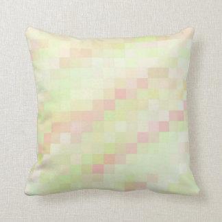 Summer Sherbet Pixel Throw Pillow