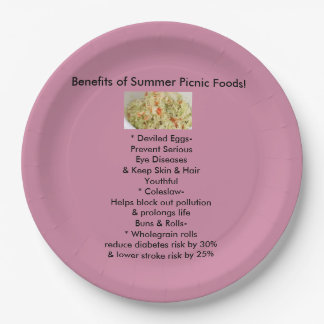 Summer Side Dishes Paper plates 9 Inch Paper Plate