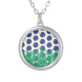 summer silver plated necklace