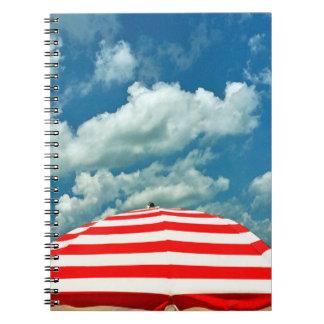 Summer Sky Beach Umbrella Notebook Journal