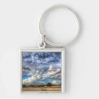 Summer Sky Farm Key Chain