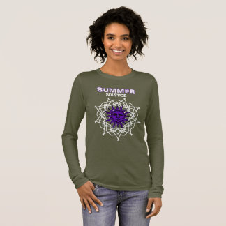 Summer Solstice Purple Druid Sunshine Graphic Long Sleeve T-Shirt