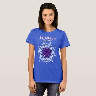 Summer Solstice Purple Druid Sunshine Graphic T-Shirt