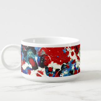 SUMMER SPLASH! (an abstract art design) ~ Chili Bowl