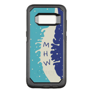 Summer Splash custom monogram phone cases