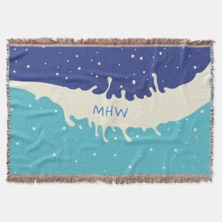 Summer Splash custom monogram throw blanket
